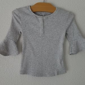 Old Navy Gray 3/4 Sleeve Top